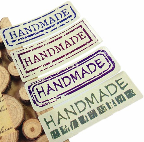 80 Stickers Labels Handmade Uppercase different style 80 Stickers Labels