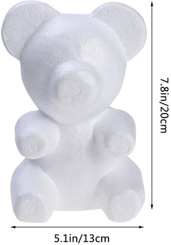 Styropor beer Prince 20 cm   beer voor roosjes