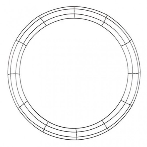 'Metalen frame voor kransen rond 24inch Frame