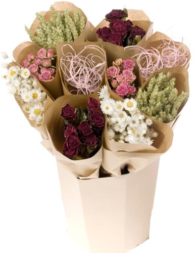 Droogbloemenmix Emmer dried bunches Love mixed  12 bundels
