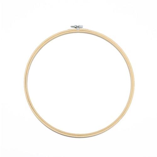 Bamboe ring Borduurring Flowerhoop 26 cm/stuk Bamboo bloemenring verstelbaar