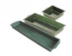 Brick tray 1/2 13*12. 5 cm. Groen voor 1/2 groot alternatief 017608