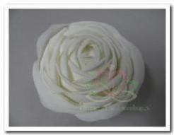 foam Rose Stonerose 16 cm. Wit /st foam Rose Stone