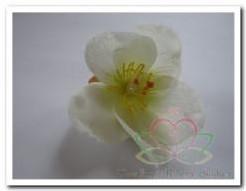 Zijde decoratie bloem creme-geel /10 st Zijde decoratie