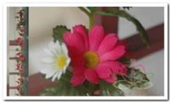 Gerbera zijde bloemen guirlande Pink Gerbera zijde