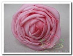 foam rose Pink 9*6cm. / 2 stuks foam rose Pink
