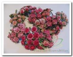 Mulberry Roosjes Roze mixed 1cm. / PAK Mulberry Roosje
