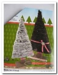 Houten kerstboom 2 stuks Houten kerstboo
