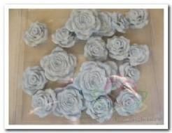 Bloemen polyresin doosje18 blauw Bloemen polyres