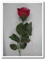 Roos kunstroos zijde Donker Rose 2tone / STUK Roos kunstroos
