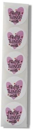 500 Stickers Labels Rol Pretty Things Inside rol sluit etiketten