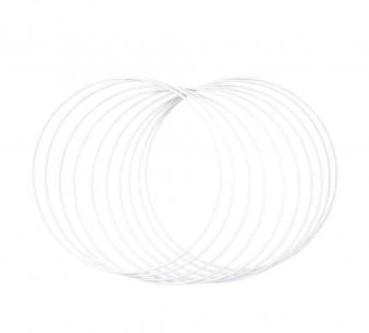 Metalen ringen 20cm ø, box 10st., wit grootverpakking doos 10st