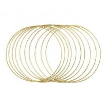 Metalen ringen 20cm ø, box 10st, goud grootverpakking doos 10st