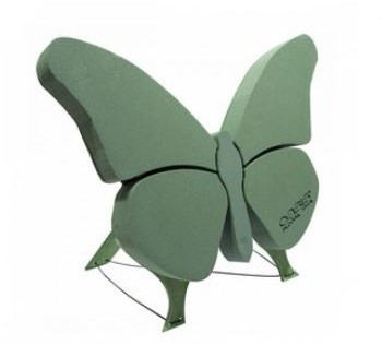 Oasis Vlinder 56*40 cm. Met staander OASIS® BIOLINE® Steekschuim Vlinder 56 x 40 x 6 cm