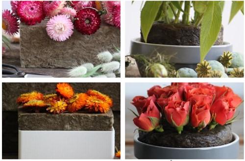 Natural Floral Foam™ per blok 100% natural floral  blok voor verse; droog en kunstbloemen