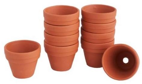 Terracotta Terra cotta potjes doos 10 stuks binnenmaat 4cm Terracotta potjes