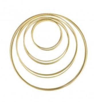 Metalen ringen diverse maten box 12st, goud grootverpakking doos 12st