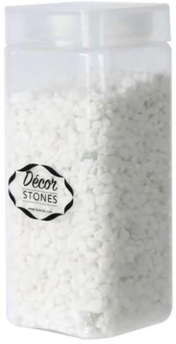 Pebble Snow white stones 4-6mm 750gr Pot witte steentjes