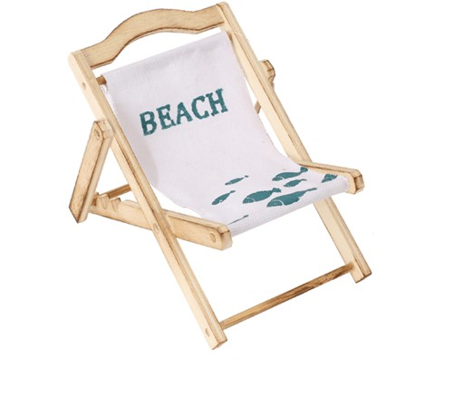 Maritiem Strandstoeltje vis/beach Strandstoel 13x10x10 cm