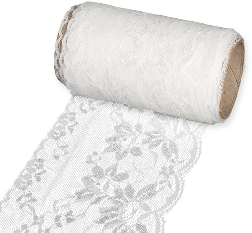 Lint Kant 110mm Off White rol 5 m.  Kant 110mm
