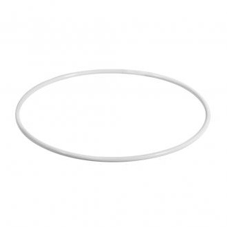 Metalen ring 30 cm wit gelakt Enkele ring