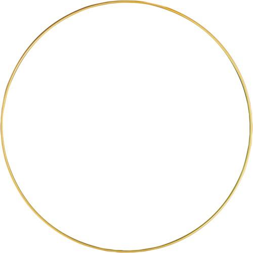 Metalen ring 30 cm Goud gelakt Enkele ring