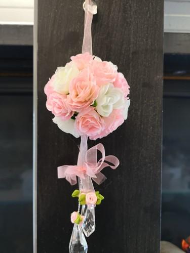 bloemenbal Pomander RoseBall Bruidsmeisje BeautyPink - Softpink+White bloemenbal Pomander