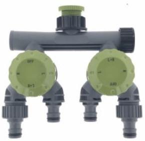 Waterkraanadapter waterverdeler 5-voudig 1/2 '' en 3/4 direct op slang of kraan
