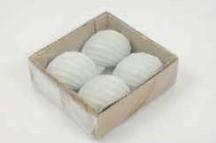 Chongu Pop schelpen lichtblauw, 4 stuks