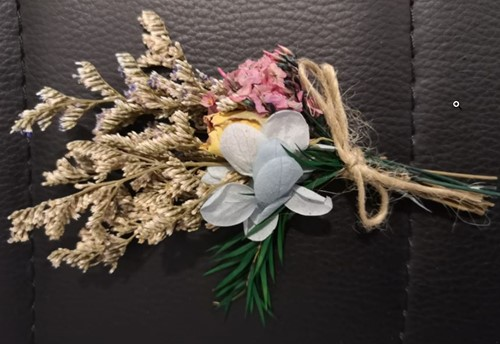 Corsage Droogbloemen Rose 10 Corsage Dried