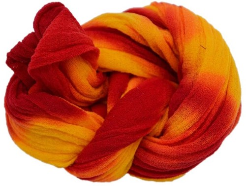 Nylon 9 Oranje-BurgundyRood 2tonevoor het maken van bloemen Nylon