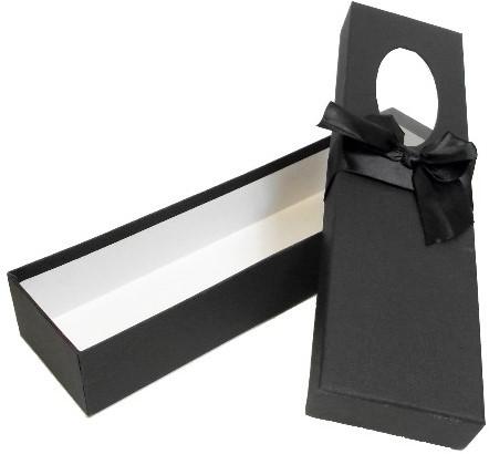 Bloemendoos 36cm ROSE BOX met venster en strik ZWART Cadeaudoos voor bv rozenboeket