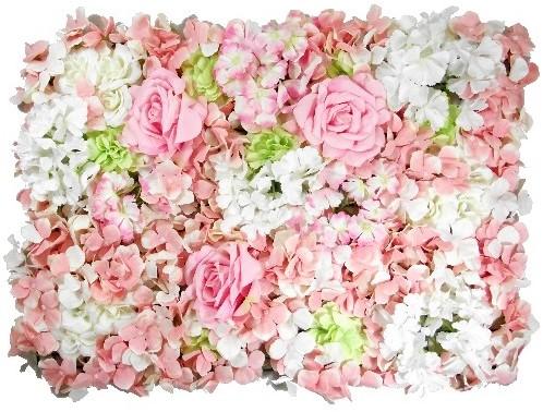 Flowerwall Flower Wall 40*60cm. 3D Roos Dahlia Hydrangea Flowerwall Green/ivory/pink
