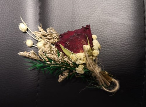 Corsage Droogbloemen Rose 01 Corsage Dried
