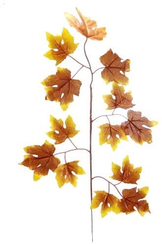 60cm MAPLE LEAF SPRAY Warmbruin'geel Zijdebloem PAK van 6 VT Wonen Botanical BROWN/YELLOW