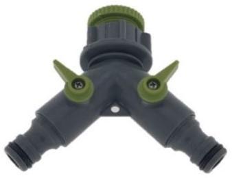 Green Arrow Universele Waterverdeler Y-Model 2-Weg direct op slang of kraan