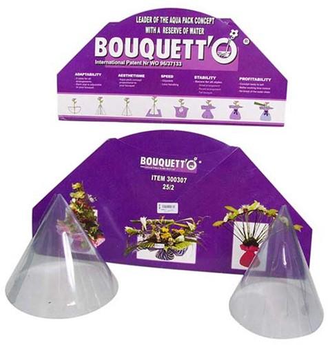 Bouquetto 20/2 pak van 10 Boekethulp presentatieverpakking met water