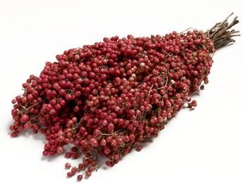 Pepper Berrie naturel  (= rose) / bundel  Peperbessen