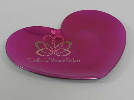 Onderbord Hartvorm Raspberry 33 cm. op=op hart onderbord