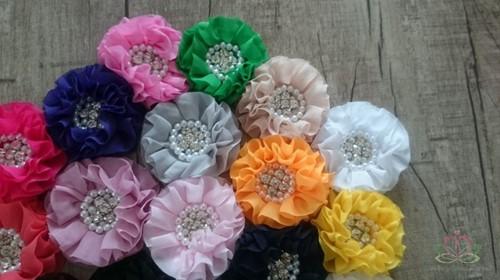 Corsage bloem met STRASS en Parels ZONDER CLIP!