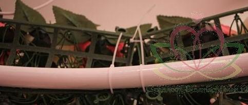 Frame raster voor bloemenboog  Arcade 44cm x 12cm. Met bloemen