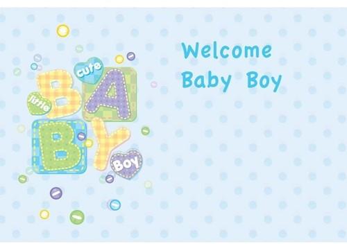 Bloemenkaartjes Baby Boy- Welcome pakje 50 Wenskaarten