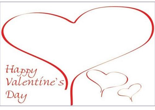Bloemenkaartjes Happy Valentine's Day Rood Hart pakje 50 Wenskaarten