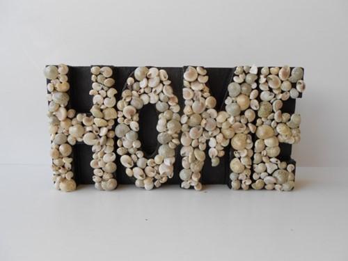 Pakket: DIY Schelpen letterbord Letters met Umbonium en minischelpjes voor een Groot tekstbord