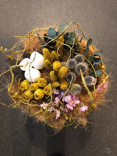 Pakket: Nestboeket met droogbloemen