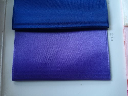 Lint voor Lintprinters Creative Ribbon 75mm LILA=Paars 25m stevig kwaliteits lint Dubbelsatijn