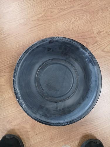 Schaal Zwart Zink 26 cm fruitschaal