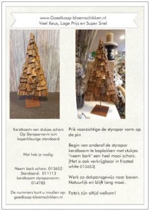 1 Werkbeschrijving sparen max 1 per klant Kerstboom Styropo - Kerstboom Styropor schors op voet Werkbeschrijving