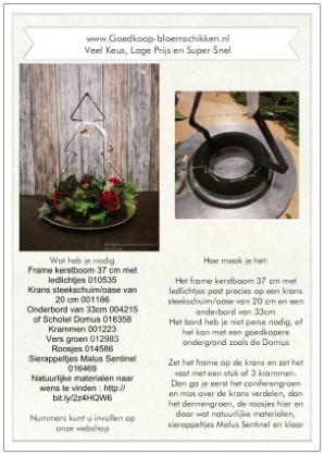 1 Werkbeschrijving sparen max 1 per klant Kerstboom frame o - Kerstboom frame op schaal Werkbeschrijving