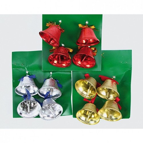 Kerstklokken Christmasbell 4 stuks - goud Kerstklokken